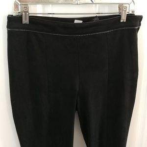 Ultra Suede Black Tapered Leg Stretchy Pants (8)